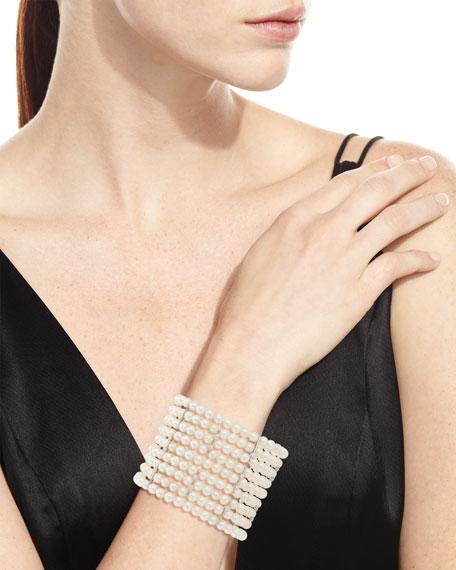 Utopia Nine-Strand Pearl Bracelet with Diamonds