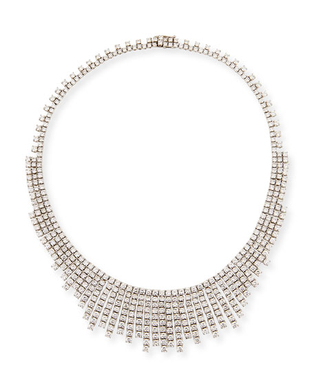 ZYDO Luminal Diamond Graduated Tassel Necklace in 18K