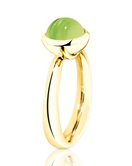 Tamara Comolli Bouton 8mm Peridot Cabochon Ring in 18k Gold, Size 7/54