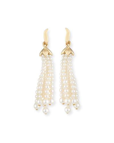 UTOPIA Pearl Tassel Clip-On Earrings