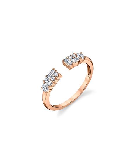Borgioni Open Mixed-Cut Diamond Ring in 18K Rose Gold, Size 6.75