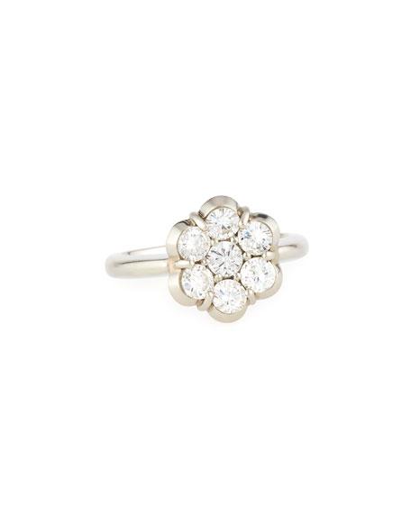 Bayco 18K PLATINUM & DIAMOND FLOWER RING