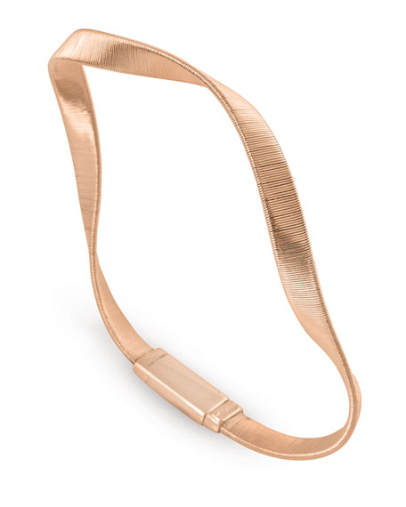 Marco Bicego Marrakech Supreme 18k Twisted Bracelet, Rose Gold