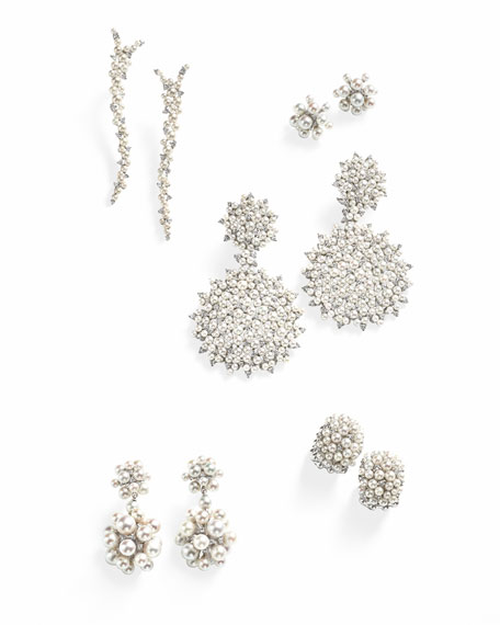 Paul Morelli Lagrange 18K Large Pearl & Diamond Double-Dangle Earrings