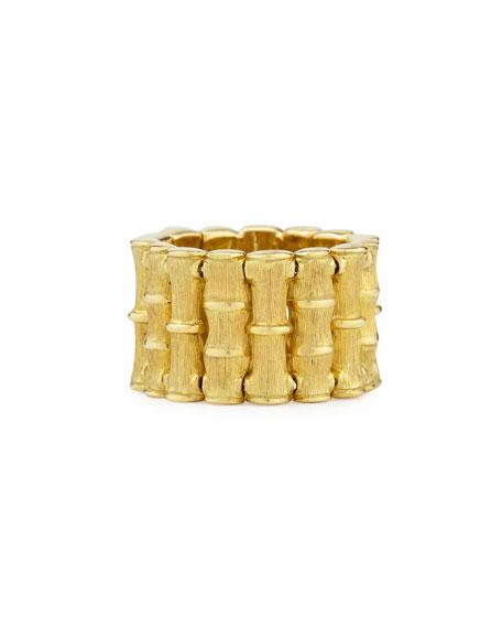 18k Yellow Gold Bamboo Ring