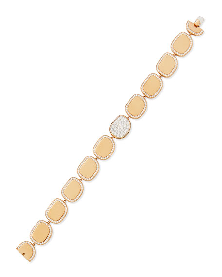 Roberto Coin 18k Rose Gold Diamond African Jade Collection Bracelet