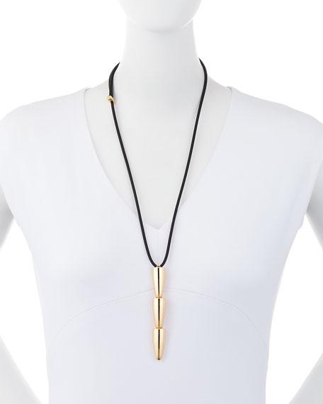 Vhernier 18K Rose Gold Calla Three-Drop Pendant Necklace