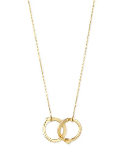 18K Yellow Gold Pave Diamond Handcuff Necklace