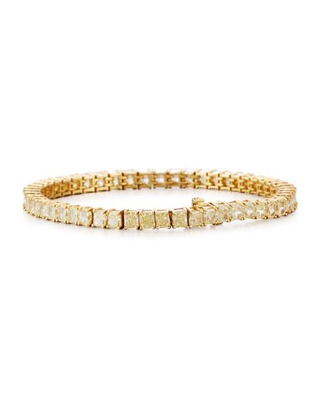 Rahaminov Diamonds 18K Gold Fancy Yellow Diamond Tennis Bracelet