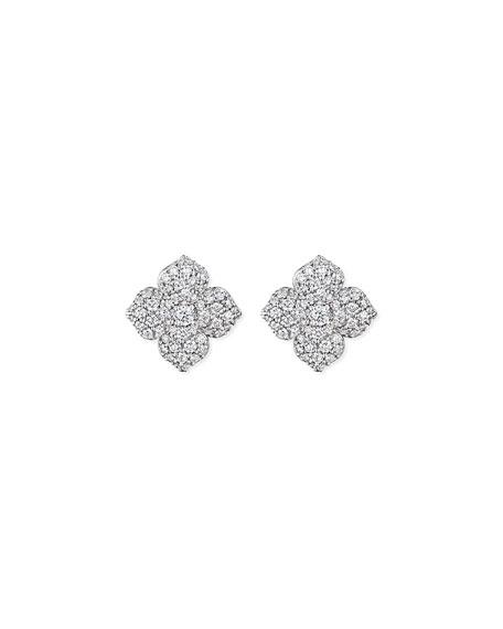 Penny Preville Large Pave Diamond Flower Earrings