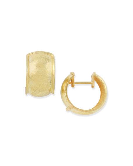 Elizabeth Locke 19k Gold Curved Hoop Earrings 9hqHoMHVV