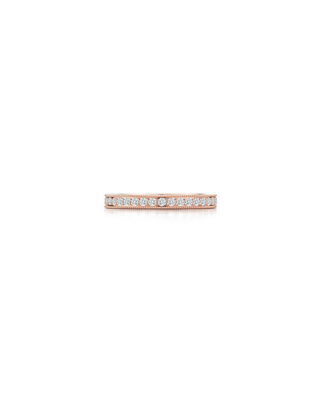 Channel-Set Diamond Eternity Band Ring in 18K Rose Gold, Size 7
