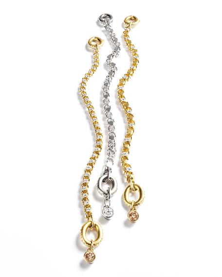 18K White Gold Partial Diamond Watch Bracelet