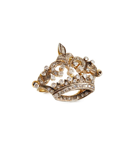 Diamond Coronet Ring in 14K Gold