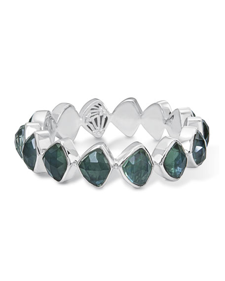 Stephen Dweck Faceted Green Quartz & Mother-of-Pearl Doublet
