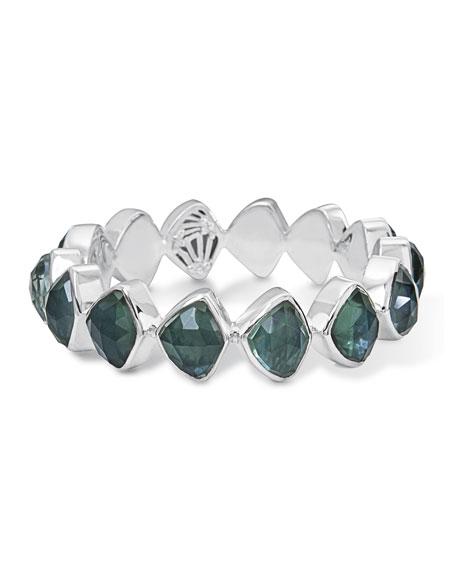 Faceted Green Quartz & Mother-of-Pearl Doublet Bracelet