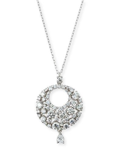 Eclipse Diamond Pendant Necklace in 18K White Gold