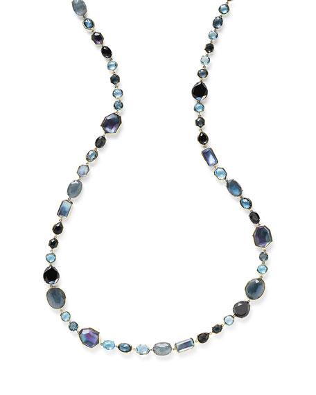 "Ippolita 18K Rock Candy Sofia Necklace in Midnight Rain, 39.5"""