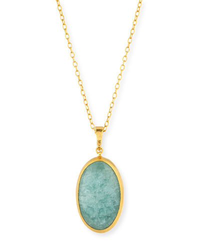 Amulet Hue Aquamarine Pendant Necklace