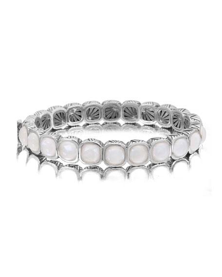 Crystal Quartz Hinge Bracelet
