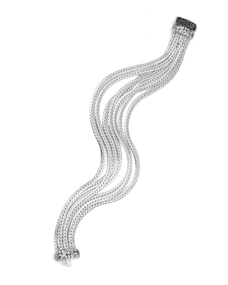 Medium Sterling Silver Seven-Strand Bracelet
