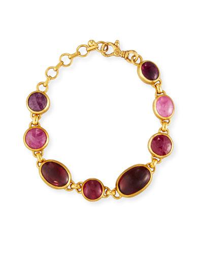 Amulet Hue Ruby & Pink Tourmaline Bracelet