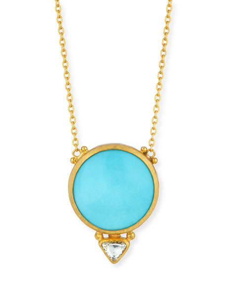 Gurhan Amulet Hue Sleeping Beauty Turquoise & Diamond