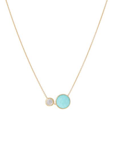 18k Jaipur Two-Stone Necklace  Turquoise/Diamonds