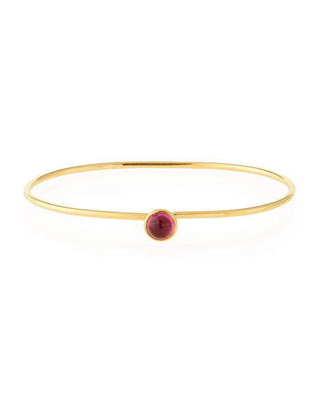 Small Rubellite Bauble Bracelet in 18K Gold