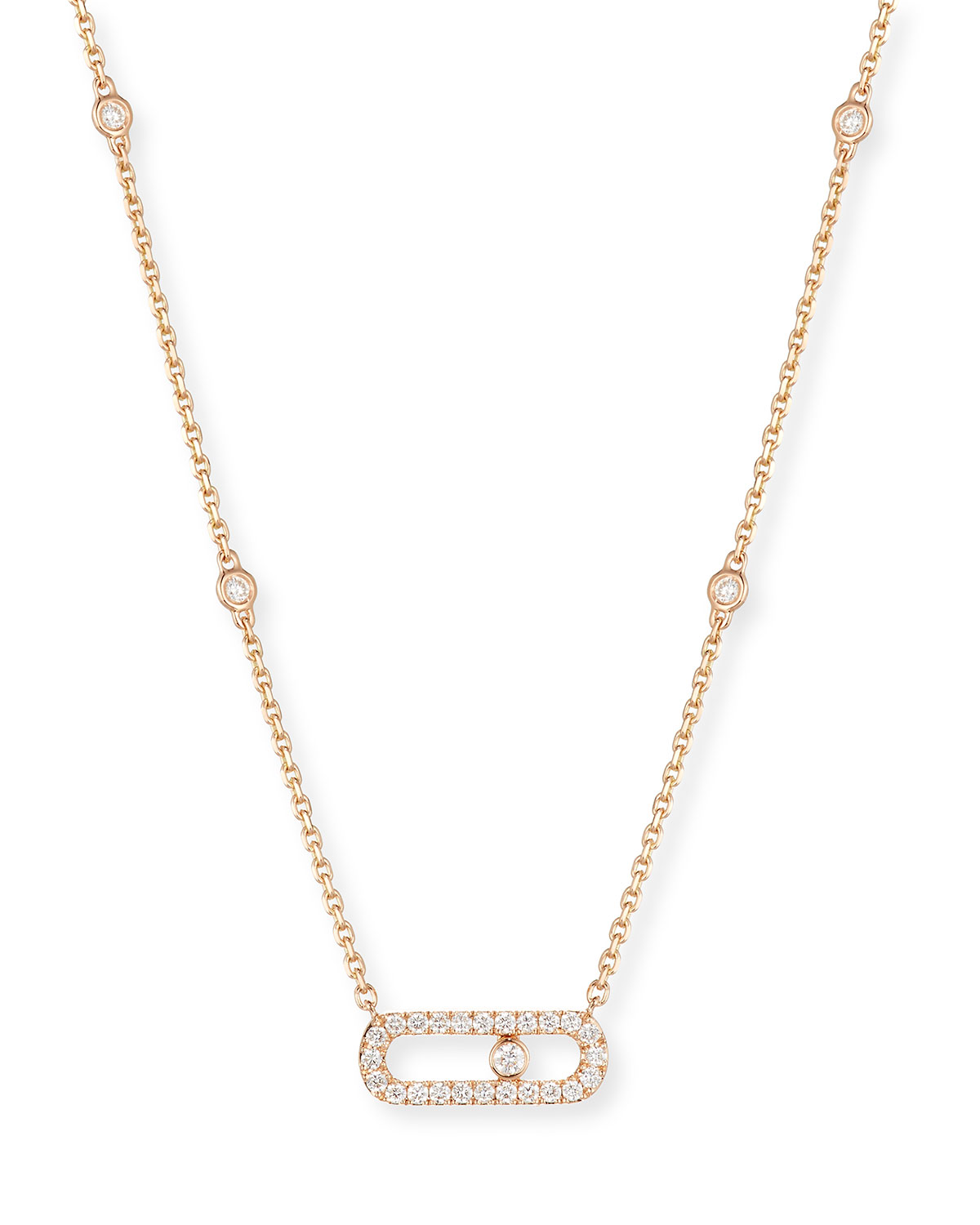 f240bff85f221e Messika Move Uno Small Diamond Pendant Necklace in 18K Rose Gold ...