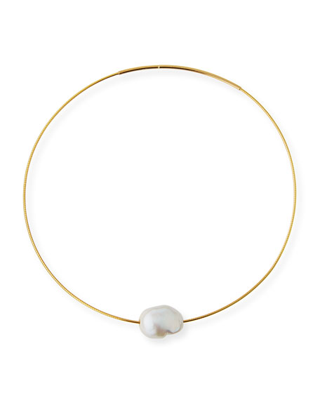 Margo Morrison Baroque Pearl Choker Necklace