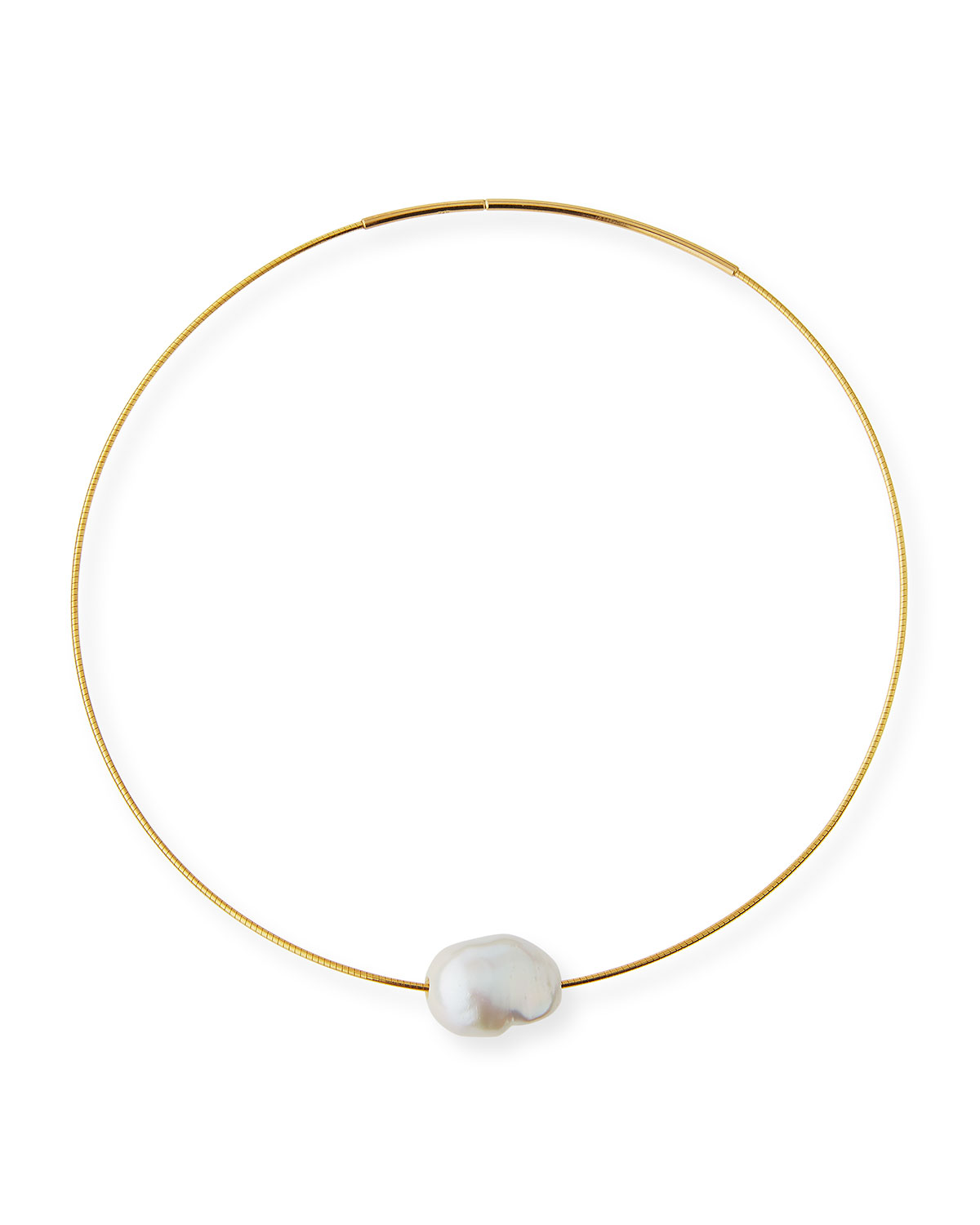 cce4741bb5b92 Baroque Pearl Choker Necklace