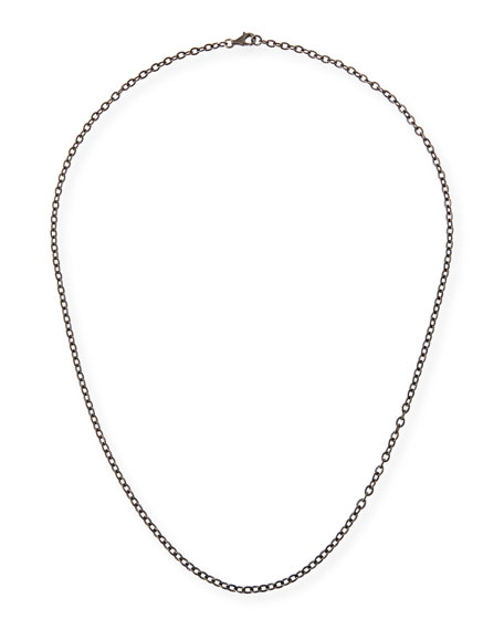 Rhodium-Plated Sterling Silver Chain Necklace, 24""