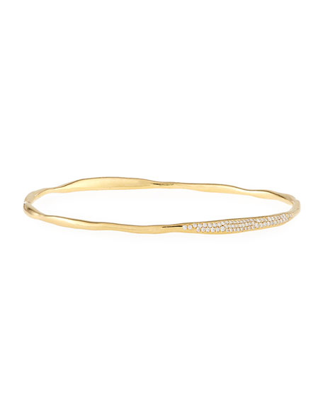 Ippolita Stardust Station Diamond Bangle in 18K Gold