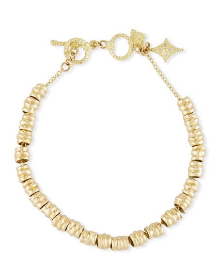 Sueno Electroform Nugget Bracelet with Diamond Crivelli Charm