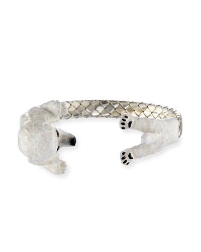 Poodle Enameled Dog Hug Bracelet