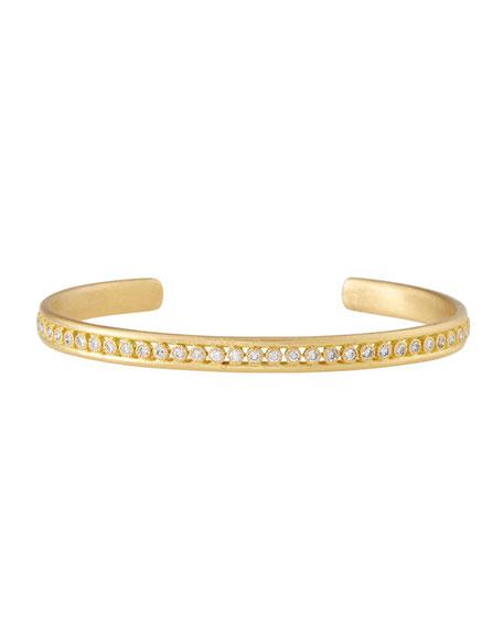 Sueno 18K Gold Cuff Bracelet with Diamonds