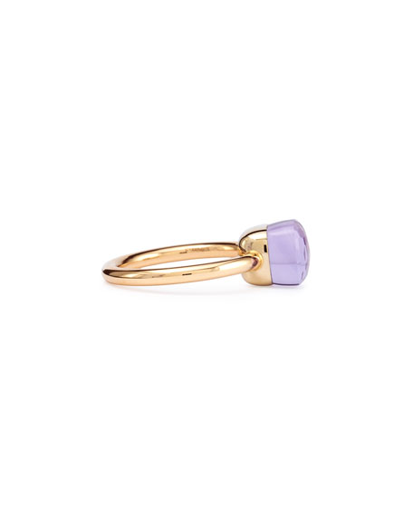 Nudo Rose Gold & Amethyst Mini Ring, Size 54