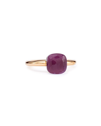 Nudo Rose Gold & Amethyst Mini Ring, Size 54