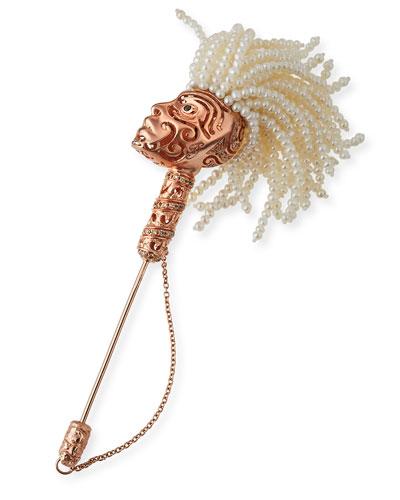 Askari Beaded Pearl Lapel Pin