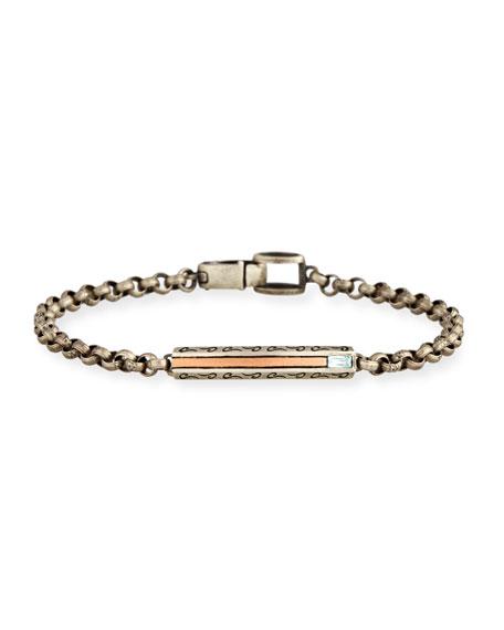 Ara Oxidized Sterling Silver Bracelet with Blue Topaz