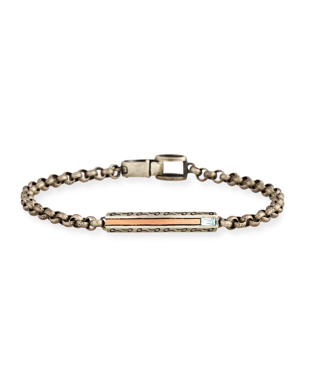 Marco Dal Maso Ara Oxidized Sterling Silver Bracelet with Diamond spC0M