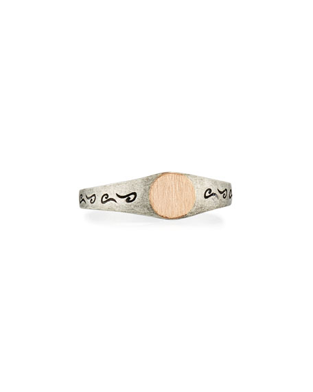 Ara 18K Rose Gold & Oxidized Silver Band Ring, Size 10