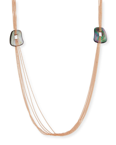 Mattioli Puzzle Six-Strand Mother-of-Pearl Necklace in 18K Rose Gold MVoO1J