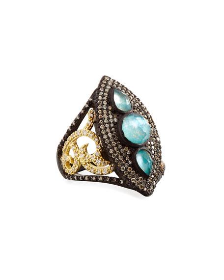 Armenta Old World Marquis Peruvian Opal & Diamond
