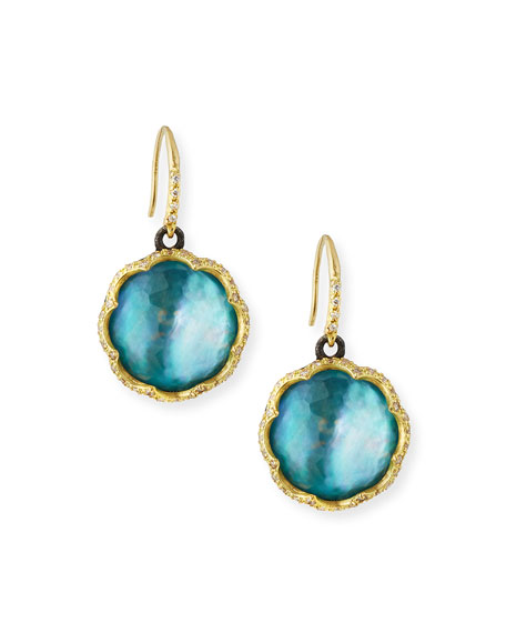 Armenta Old World 18k Scalloped Peruvian Opal Triplet