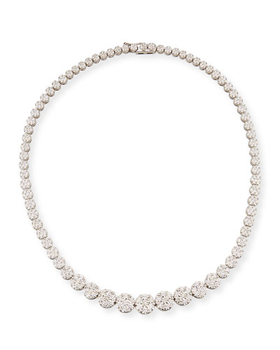 Mosaic Graduated Diamond Collar Necklace