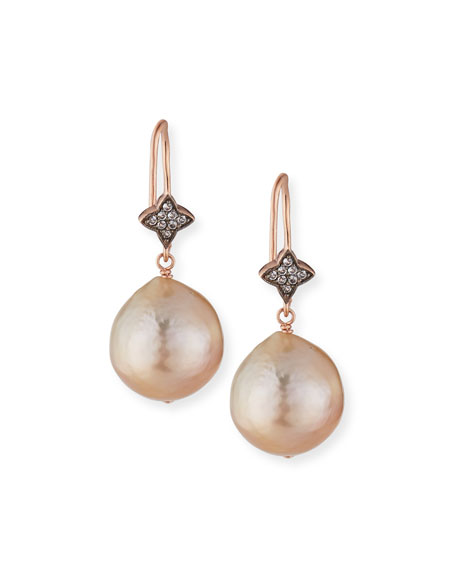 Margo Morrison Rose Golden Baroque Pearl & White