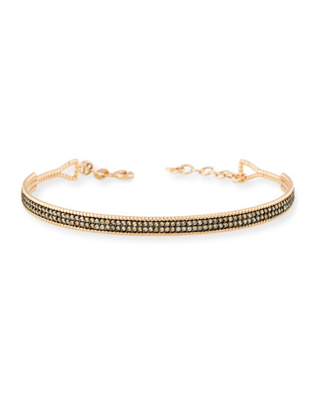 Champagne Diamond Double-Bar Bracelet in 14K Rose Gold