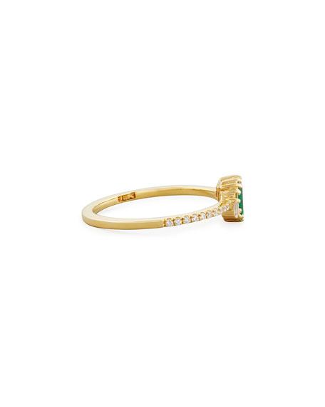 Suzanne Kalan Emerald & Diamond Ring in 18K Gold